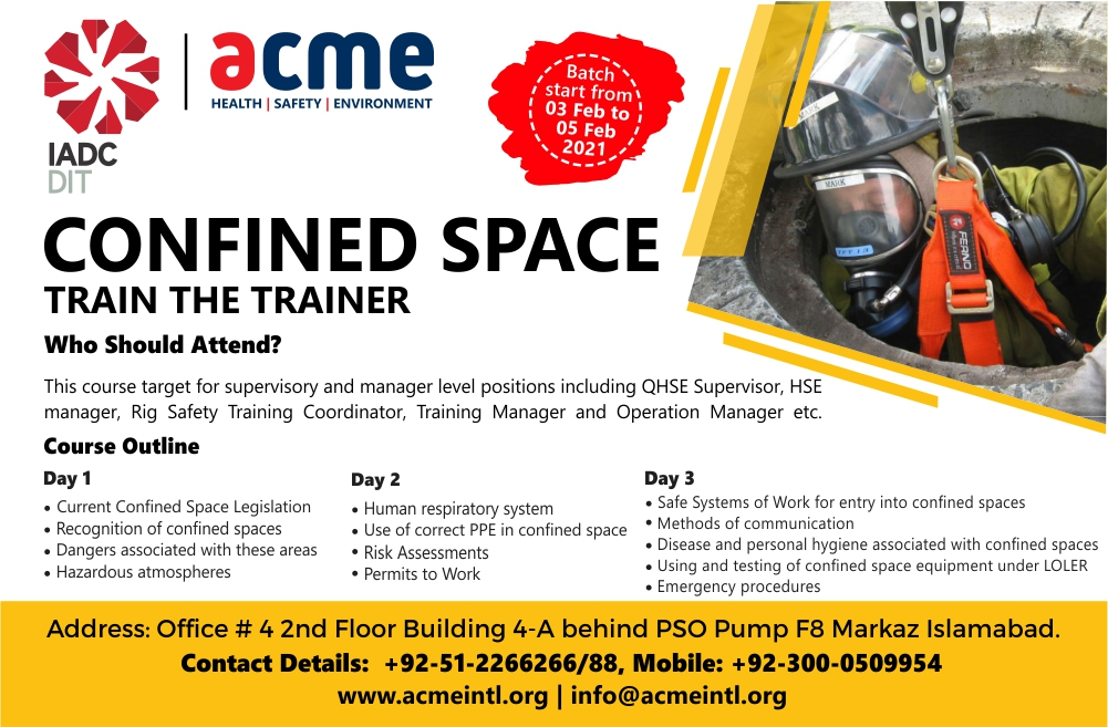 Confined Space Train the Trainer
